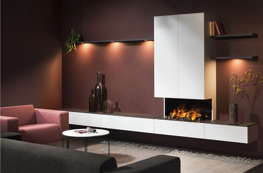 Interstar haard kast F210 55 Interstar kast kastopmaat wandmeubel televisiemeubel design modern vanderlindeinterieur